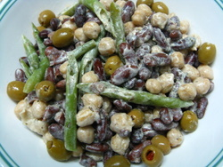 three bean salad recipe picture