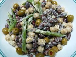 three bean salad recipe picture