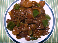 stir fry beef recipe. beef in black bean sauce.