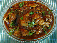 chicken curry recipe, an indian  curried chicken recipe