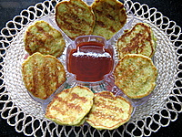 sweet corn cakes, an appetizer recipe