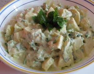 potato salad picture. A healthy salad recipe.