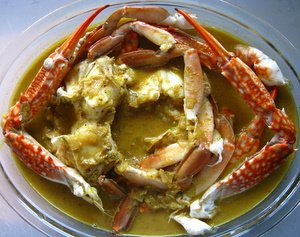 indian crab curry image