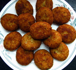 picture of fish cutlet recipe, an Indian fish recipe for making fish cakes.