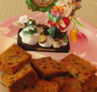 Christmas cake slices image